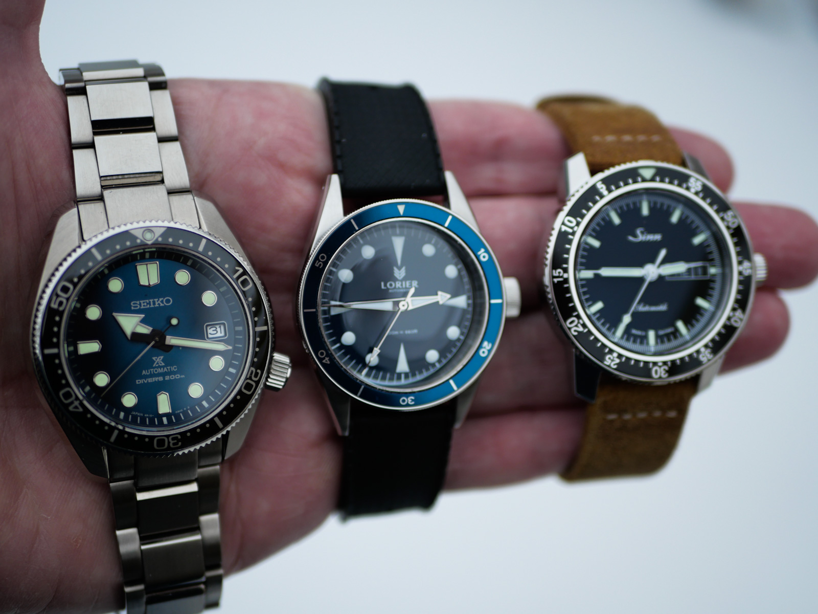 The watches I wore the most in 2020:  The Seiko Prospex SPB083J1, Sinn 104 and Lorier Neptune