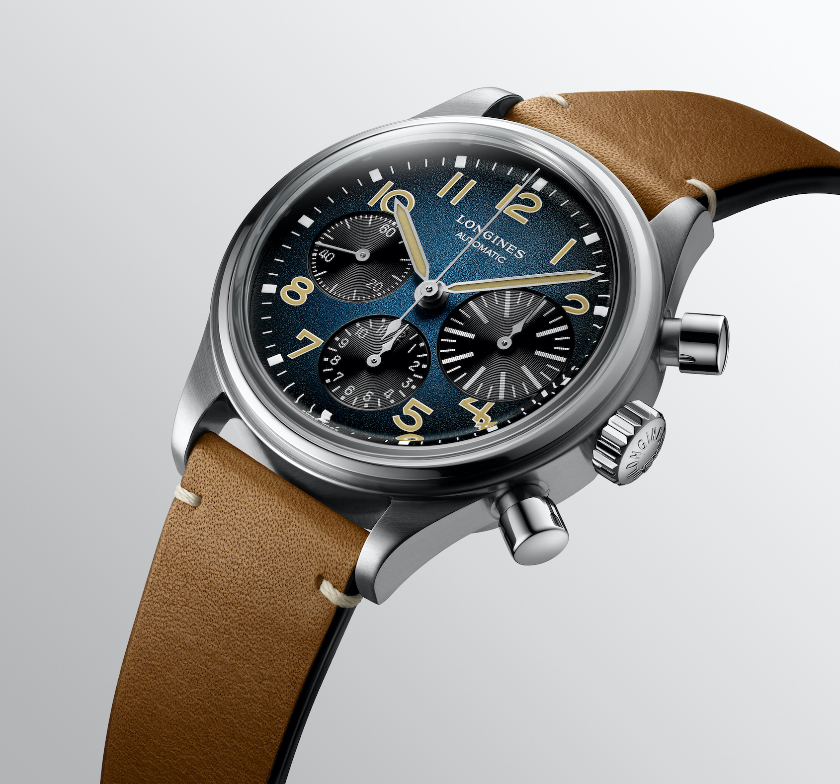 INTRODUCING: The Longines Avigation BigEye Chronograph blends heritage flair with a modern titanium case
