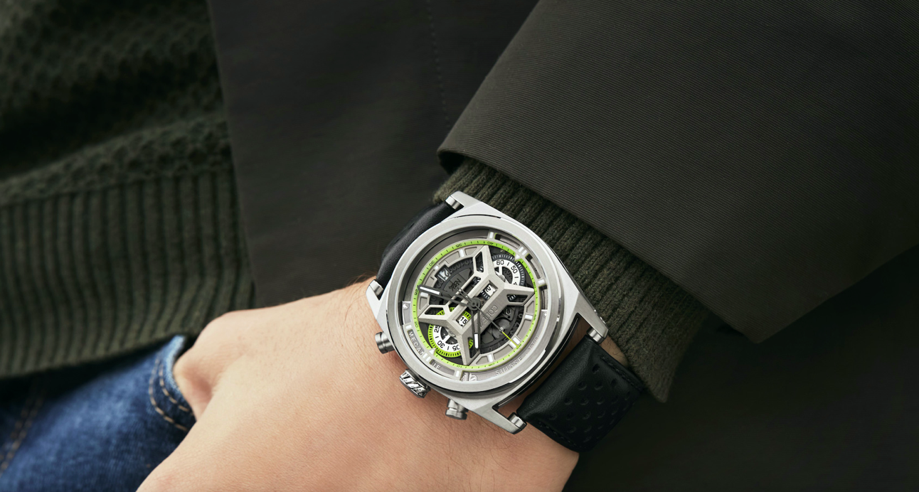 Light years ahead: The CODE41 NB24 Chronograph delivers futuristic looks with a featherlight build
