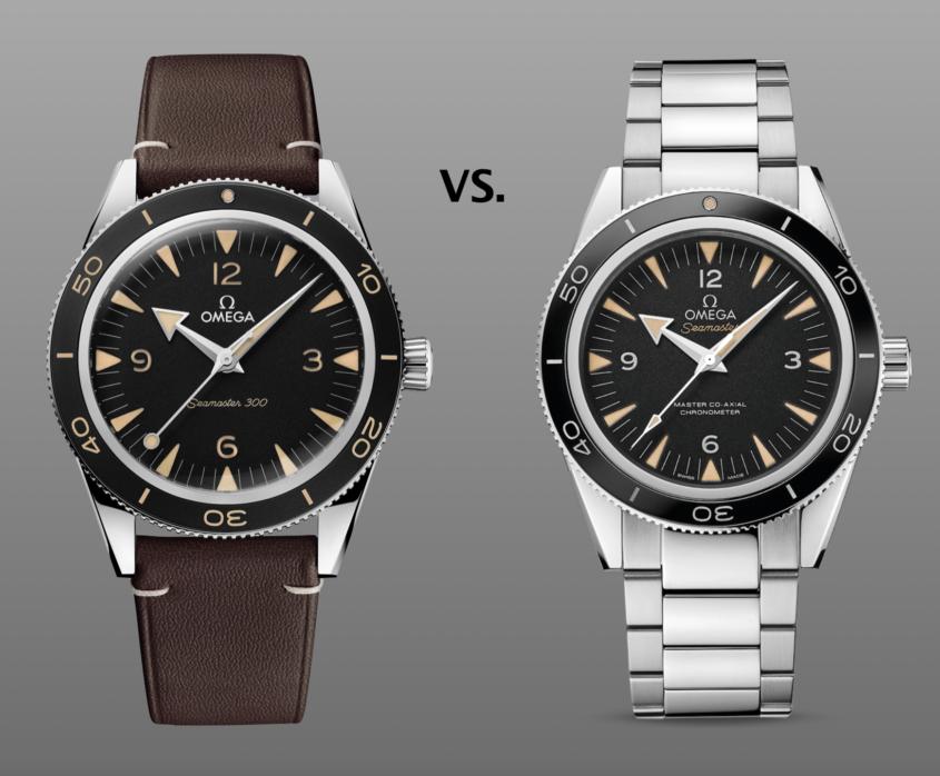 new Omega Seamaster 300 vs old