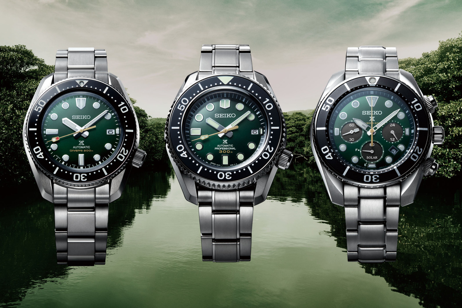 INTRODUCING: Inspired by a wilderness paradise come this trio of Seiko Prospex Diver 140th Anniversary Limited Editions