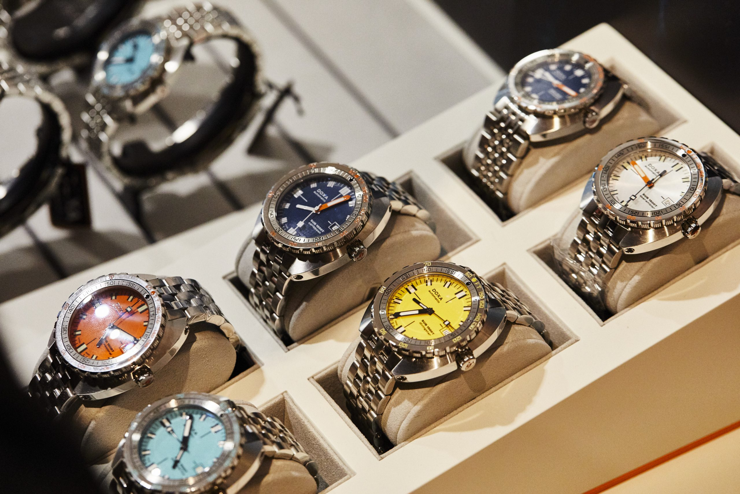 Battle of the Doxa colours! Cast your vote as the team fight over their favourite hit of dive-watch freshness.