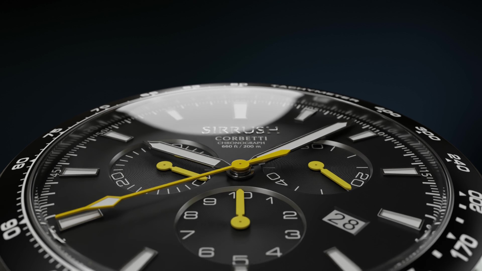 MICRO MONDAYS: The Sirrush Corbetti delivers Scandinavian flair in a classic chronograph enlivened with fresh pops of colour