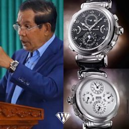Cambodian Prime Minister watches