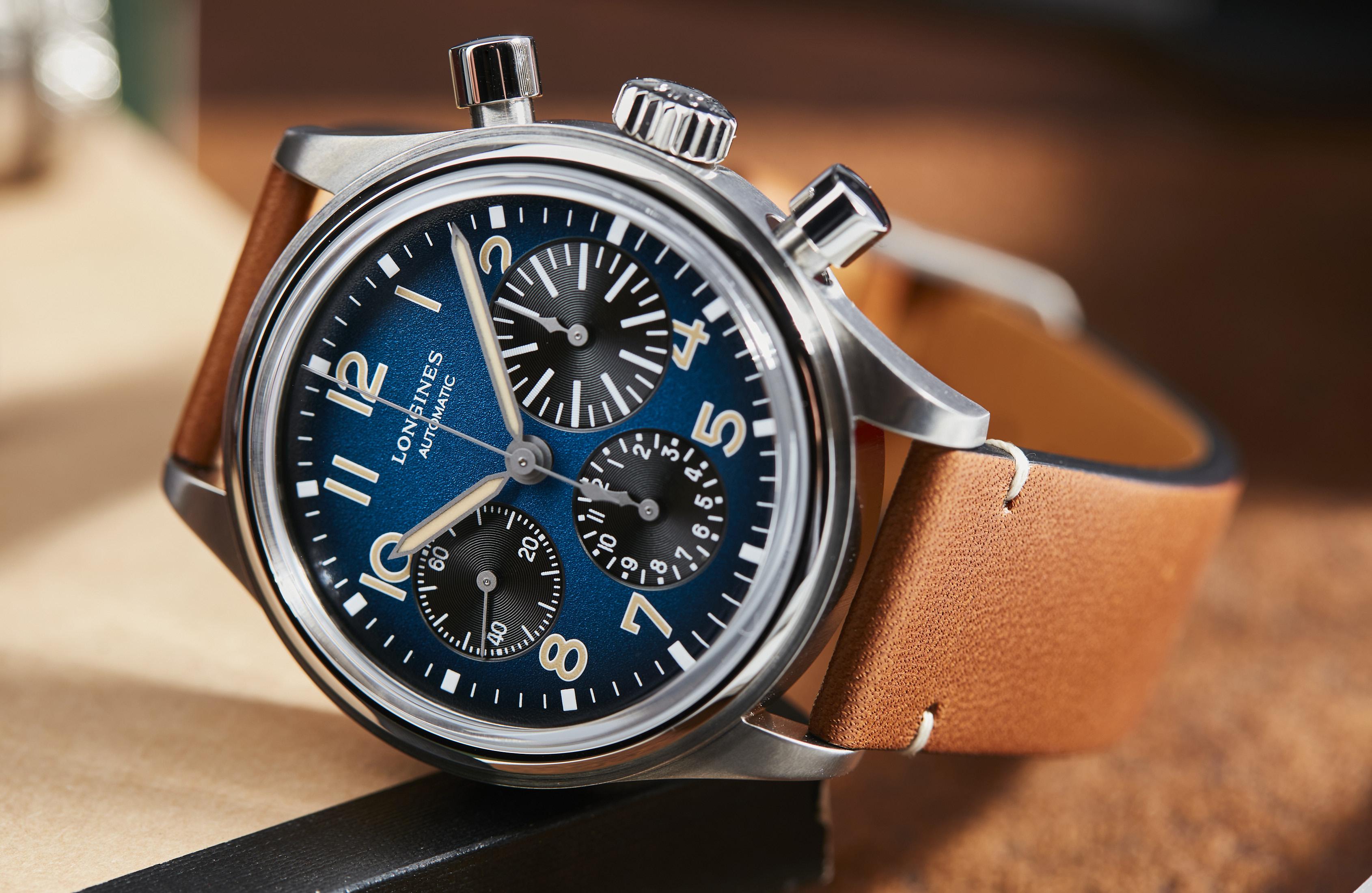 Longines Avigation BigEye Chronograph Petrol Blue Titanium