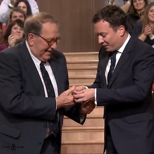 EDITOR'S PICK: Watch that time Jimmy Fallon gave his father-in-law a Bremont on live TV