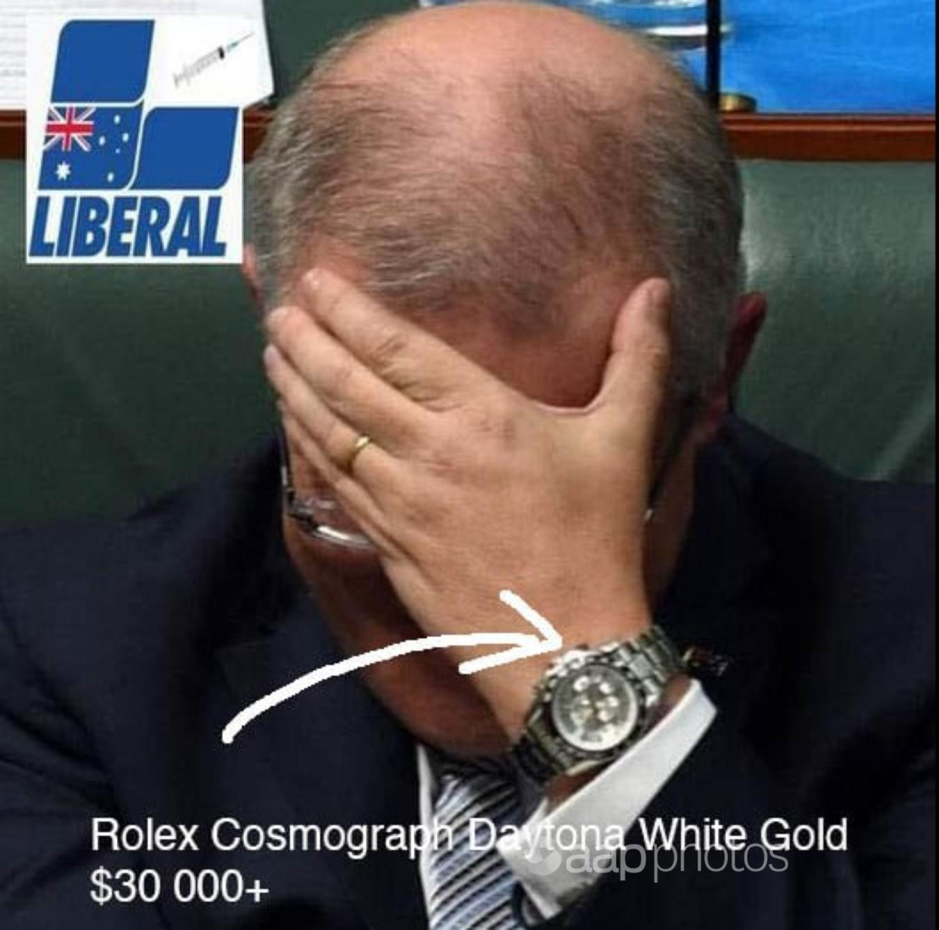 """Fury about the Australian Prime Minister's """"Rolex"""" actually fake news"""