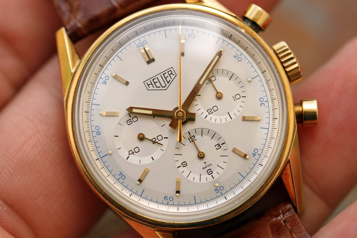 Downsizing to 36mm opens up a world of value – this TAG Heuer Chronograph is the solid-gold proof