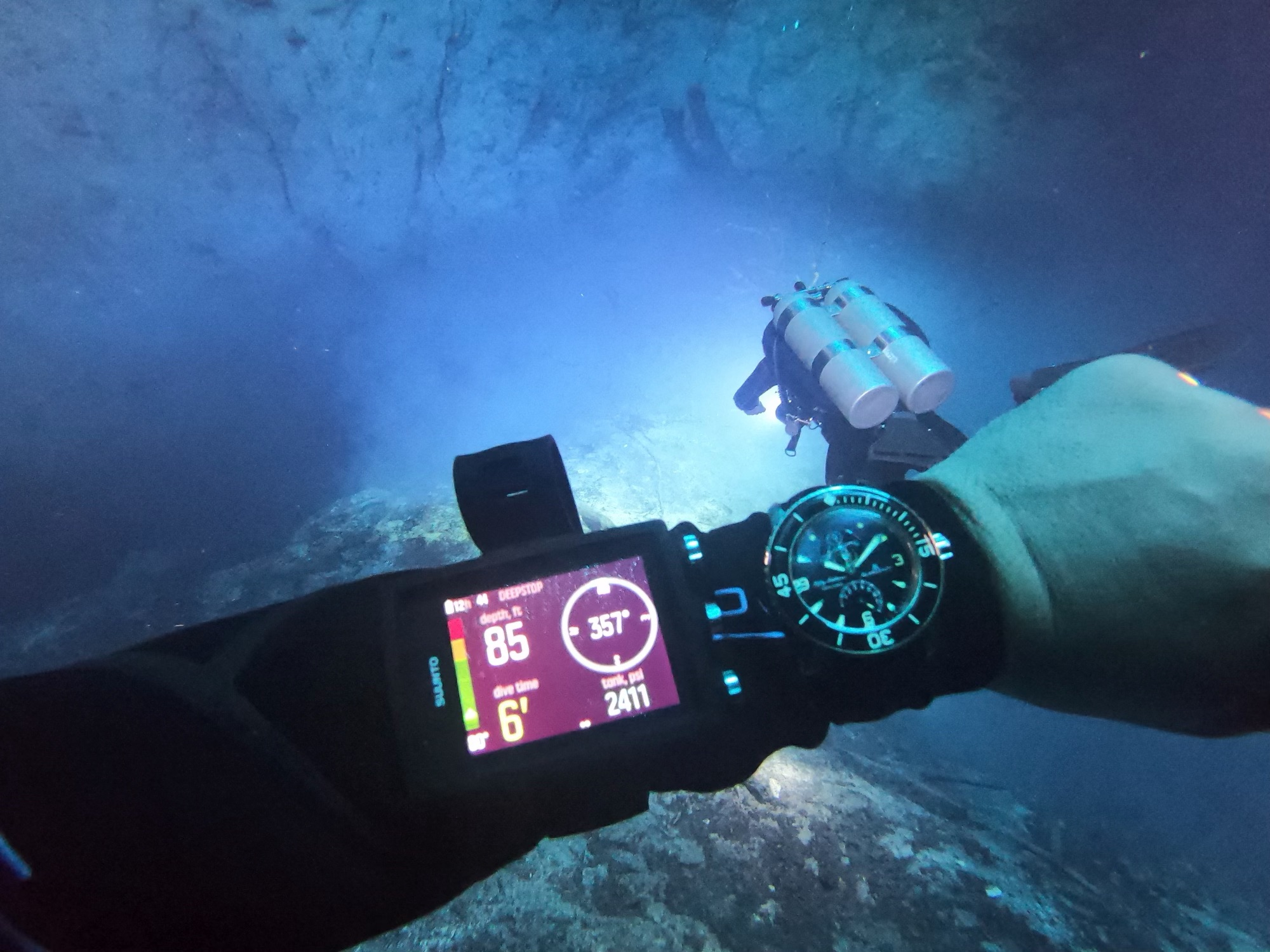 Would you rock a $100,000 rose-gold tourbillon for cave diving? Meet the man who does…