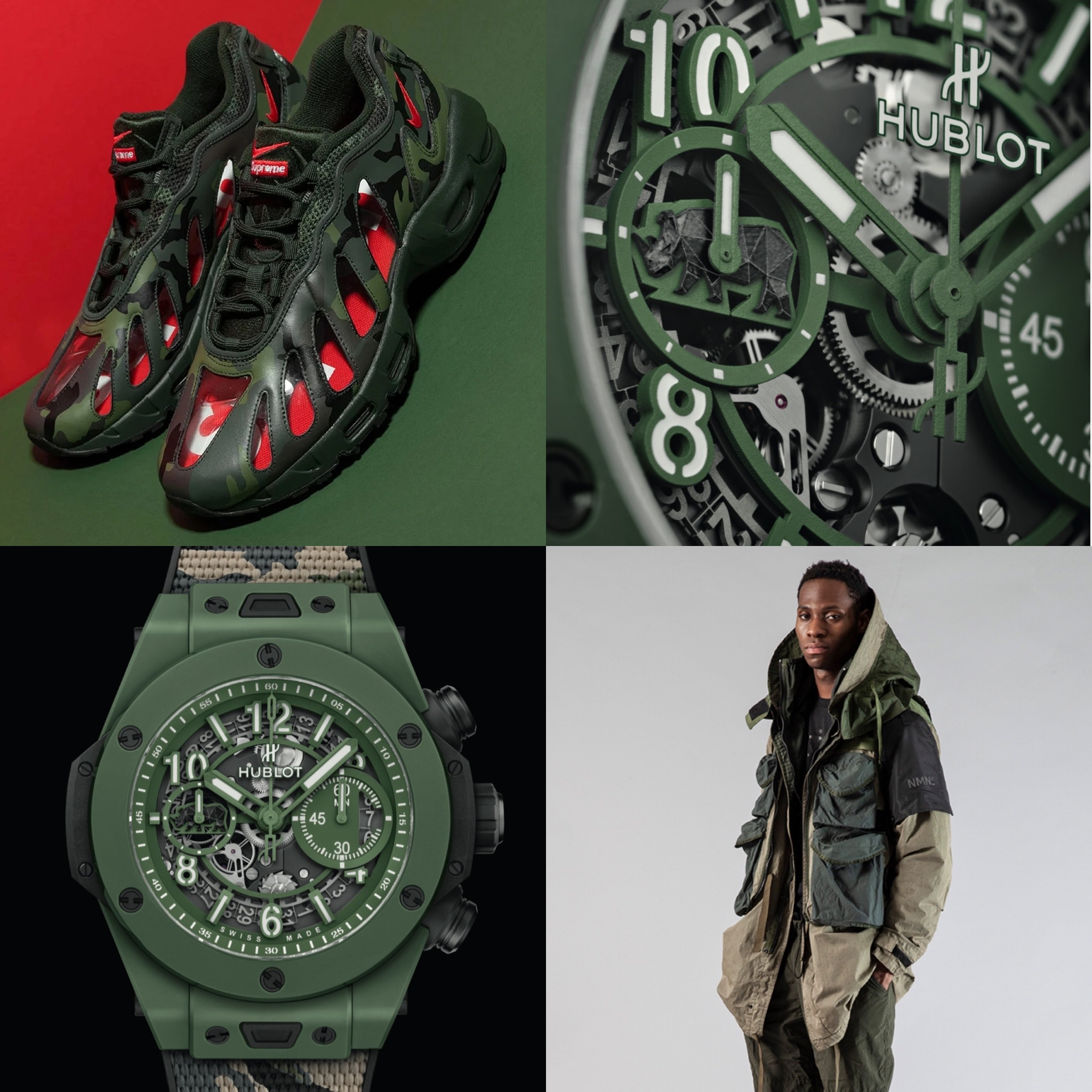 #Kixntix: Get eco-warrior chic with the new Hublot Big Bang Unico Sorai lifted with a pop of Supreme red