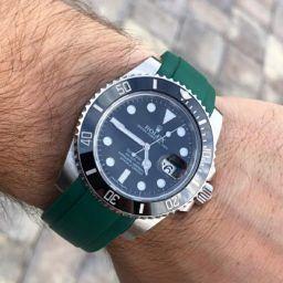 Rolex Submariner on rubber