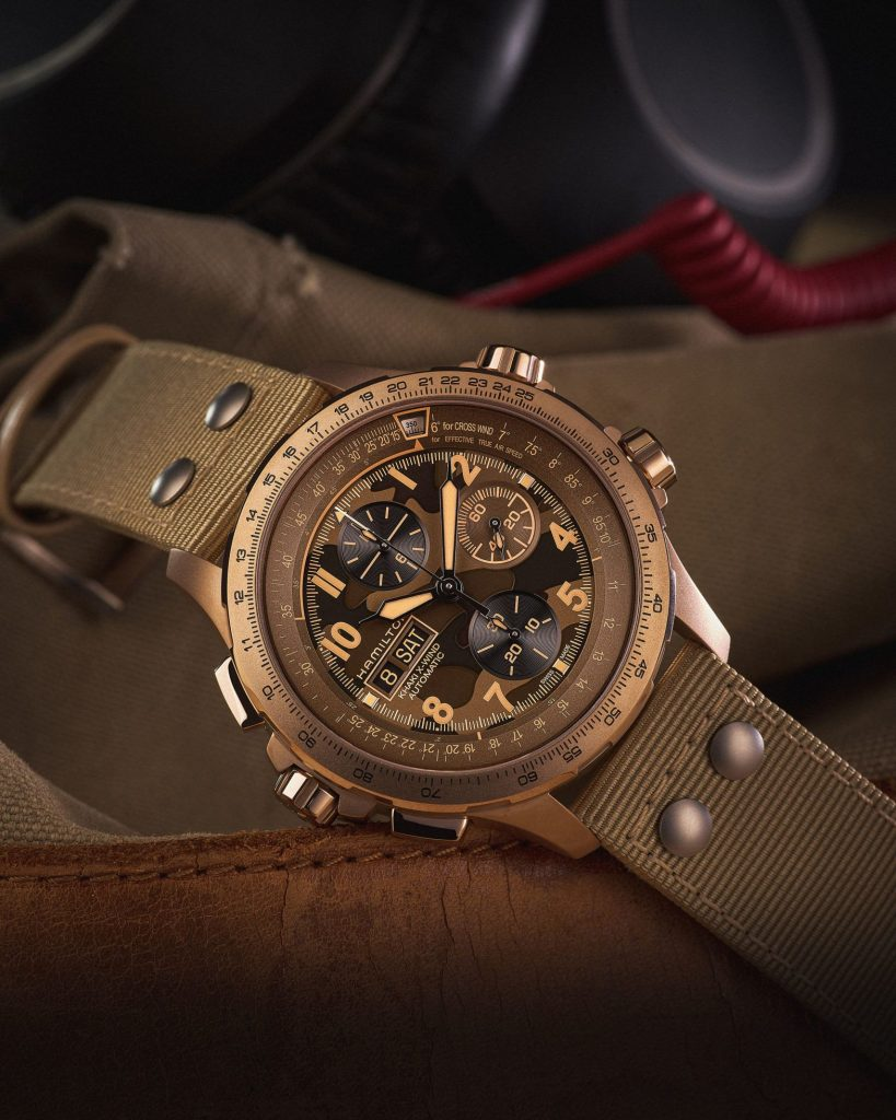 INTRODUCING: The Hamilton Khaki X-Wind collection takes flight with striking camouflage dials