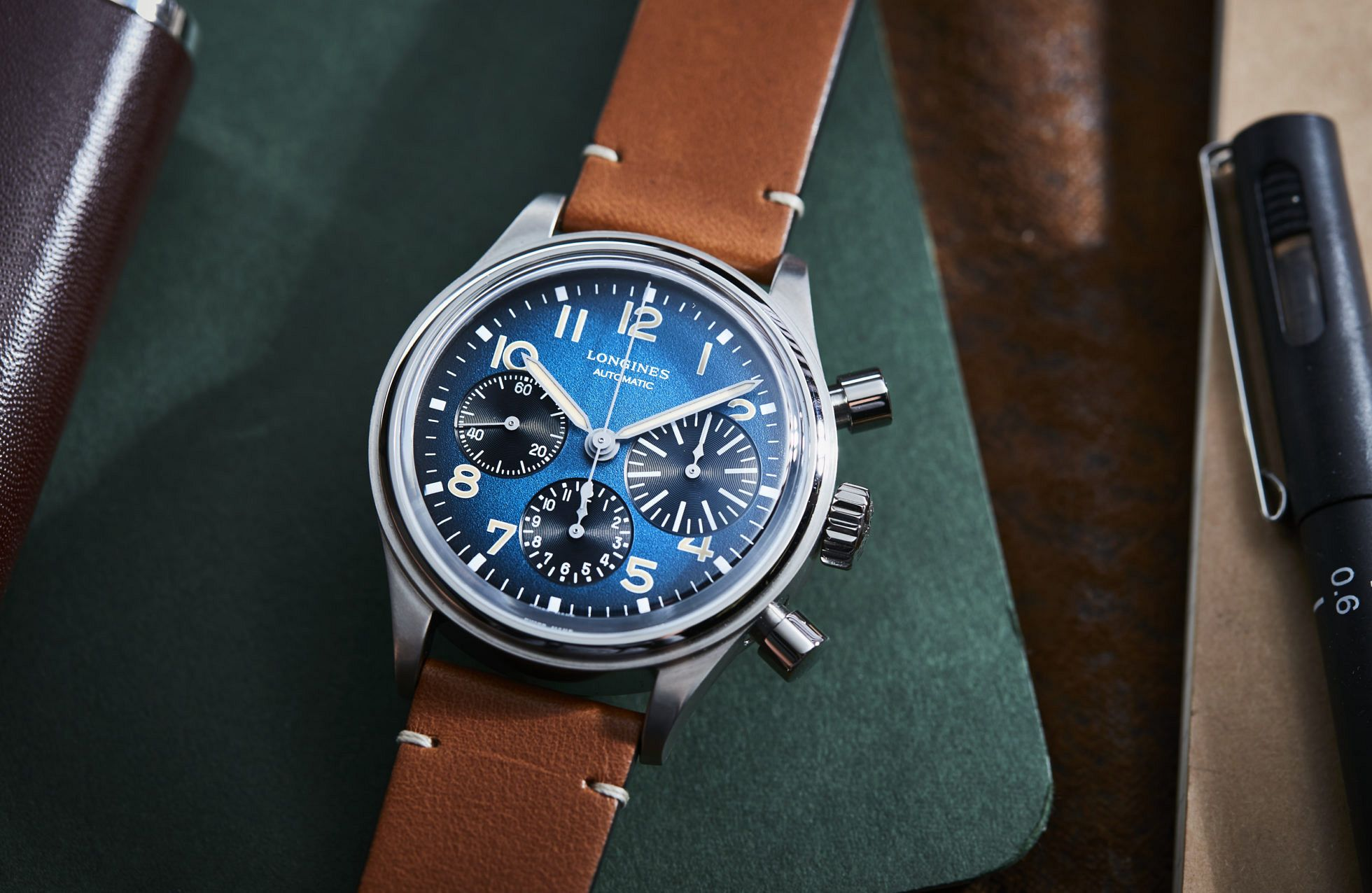 VIDEO: The Longines Avigation BigEye Chronograph is a blue dial pilot's watch with retro swagger