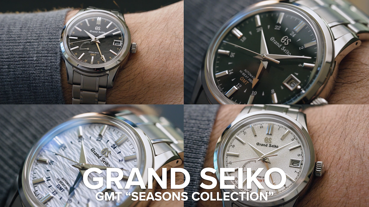 VIDEO: The Grand Seiko GMT Seasons Collection is a dial fetishist's dream come true