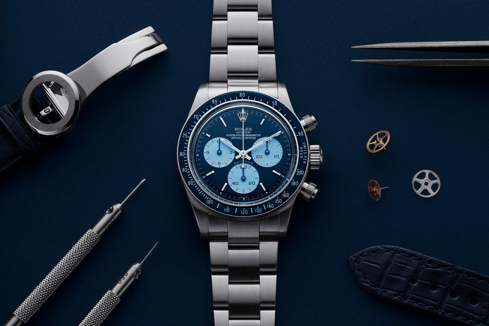 The Rolex Daytona gets a wild blue remix from Artisans de Genève