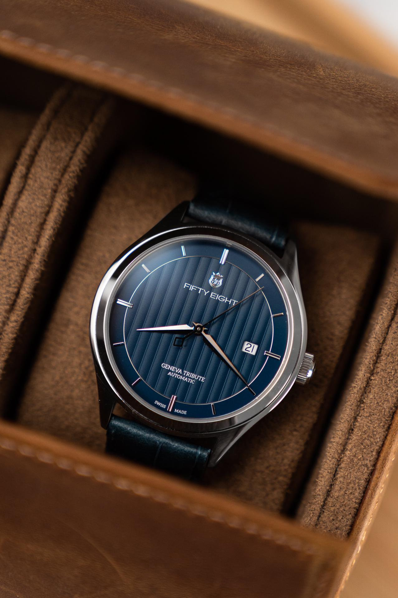 INTRODUCING: A return to the dapper dress watch with Swiss-manufactured debut brand, Fifty Eight