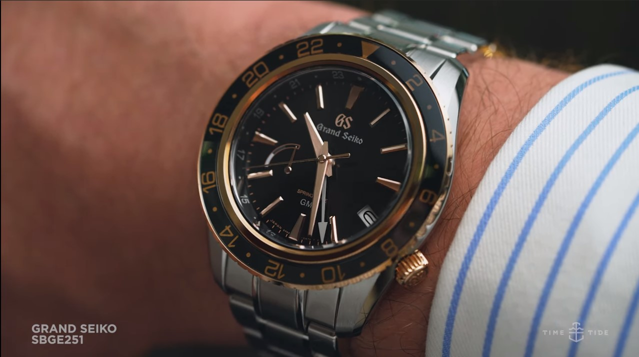 VIDEO: The Grand Seiko SBGE251 is a tough GMT with a luxurious twinkle of rose gold