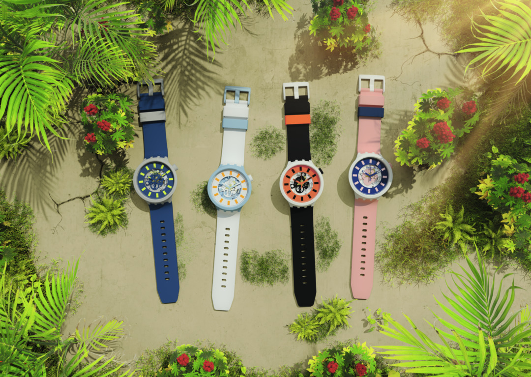 INTRODUCING: The Swatch Big Bold Bioceramic is an eco-friendly summer watch