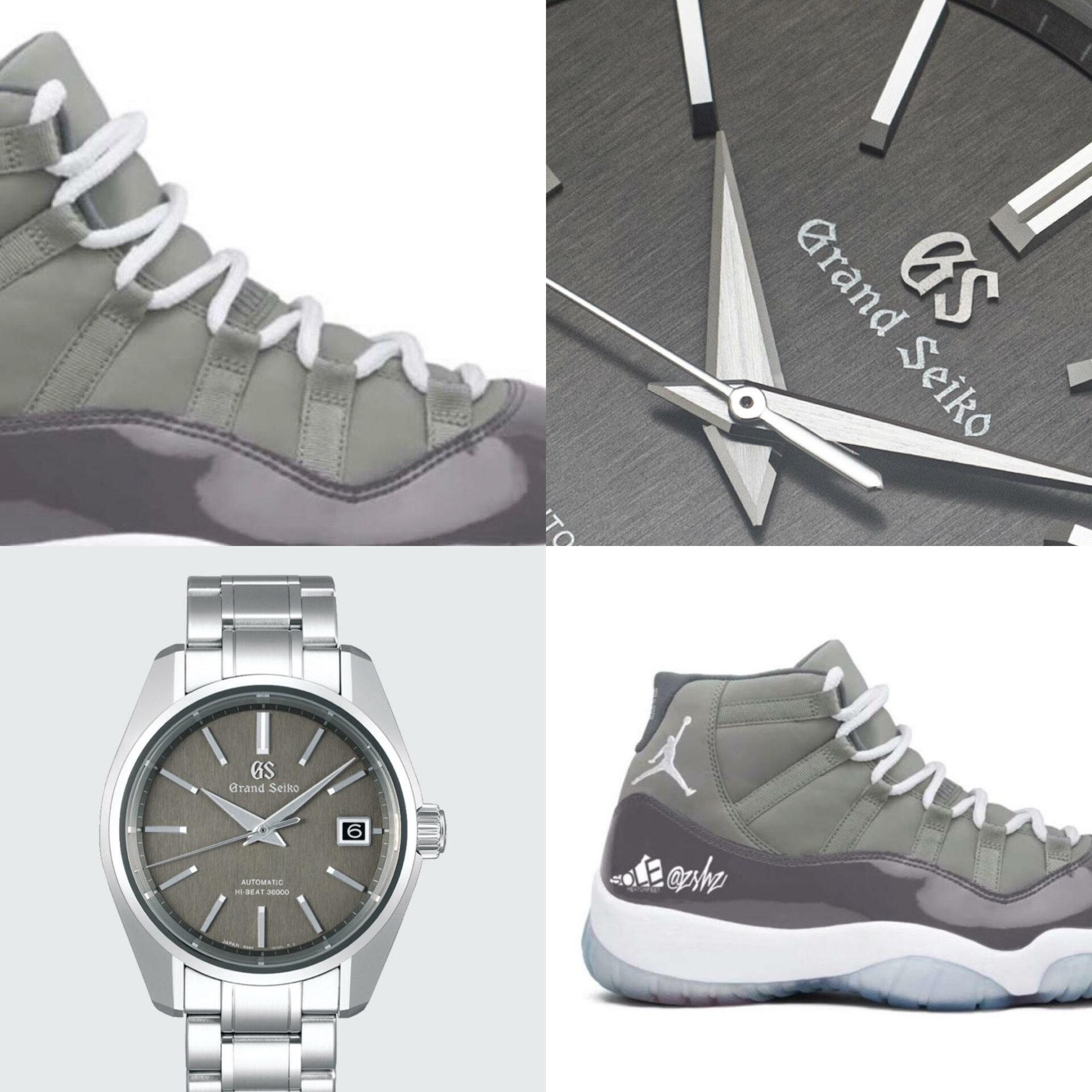 #Kixntix: The brushed granite-cool of the Grand Seiko SBGH279 meets a killer pair of Nike Air Jordans