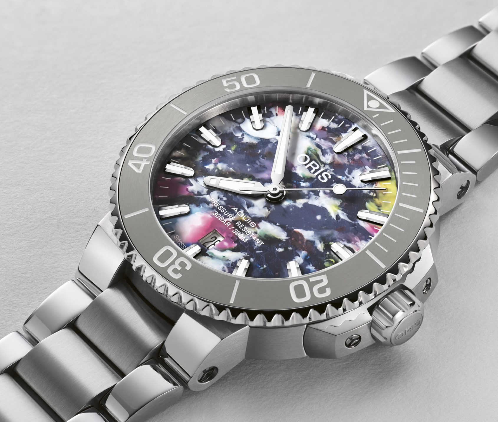 INTRODUCING: The Oris Aquis Date Upcycle made from recycled plastic