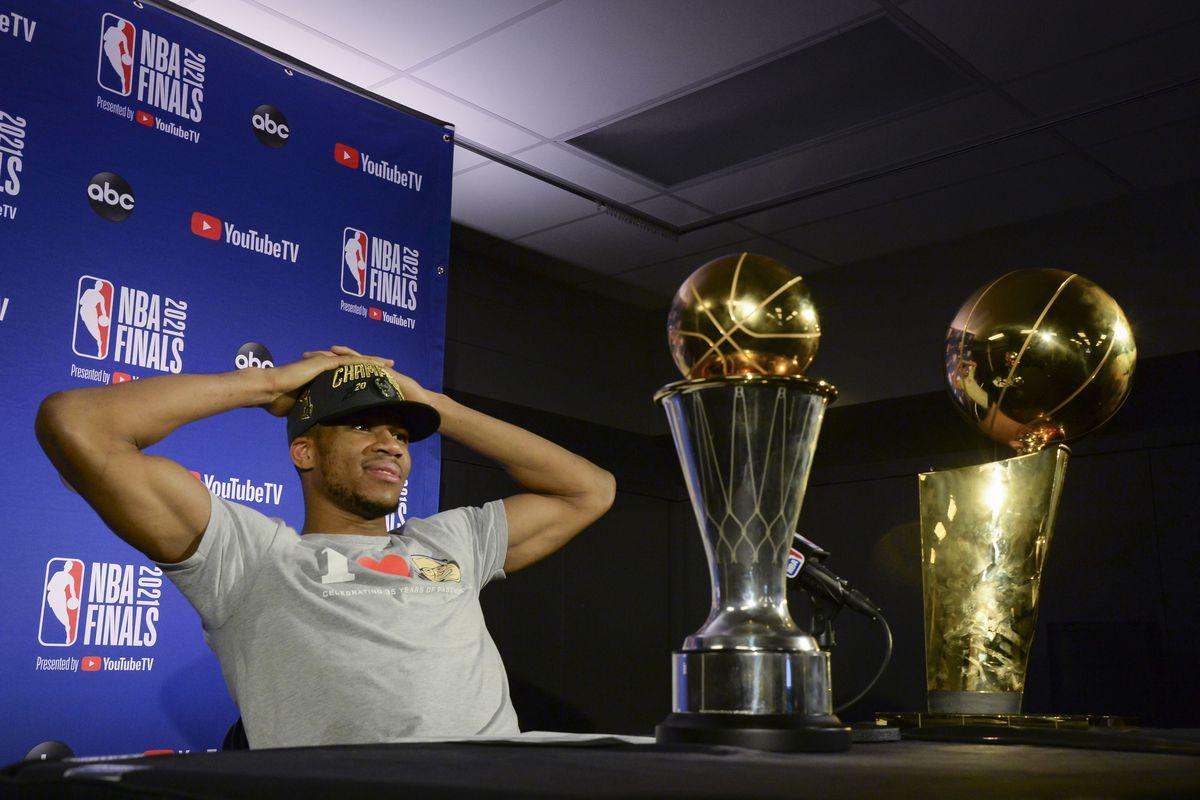 BUCKS IN SIX! NBA MVP Giannis Antetokounmpo celebrates victory with a Rolex Sky-Dweller