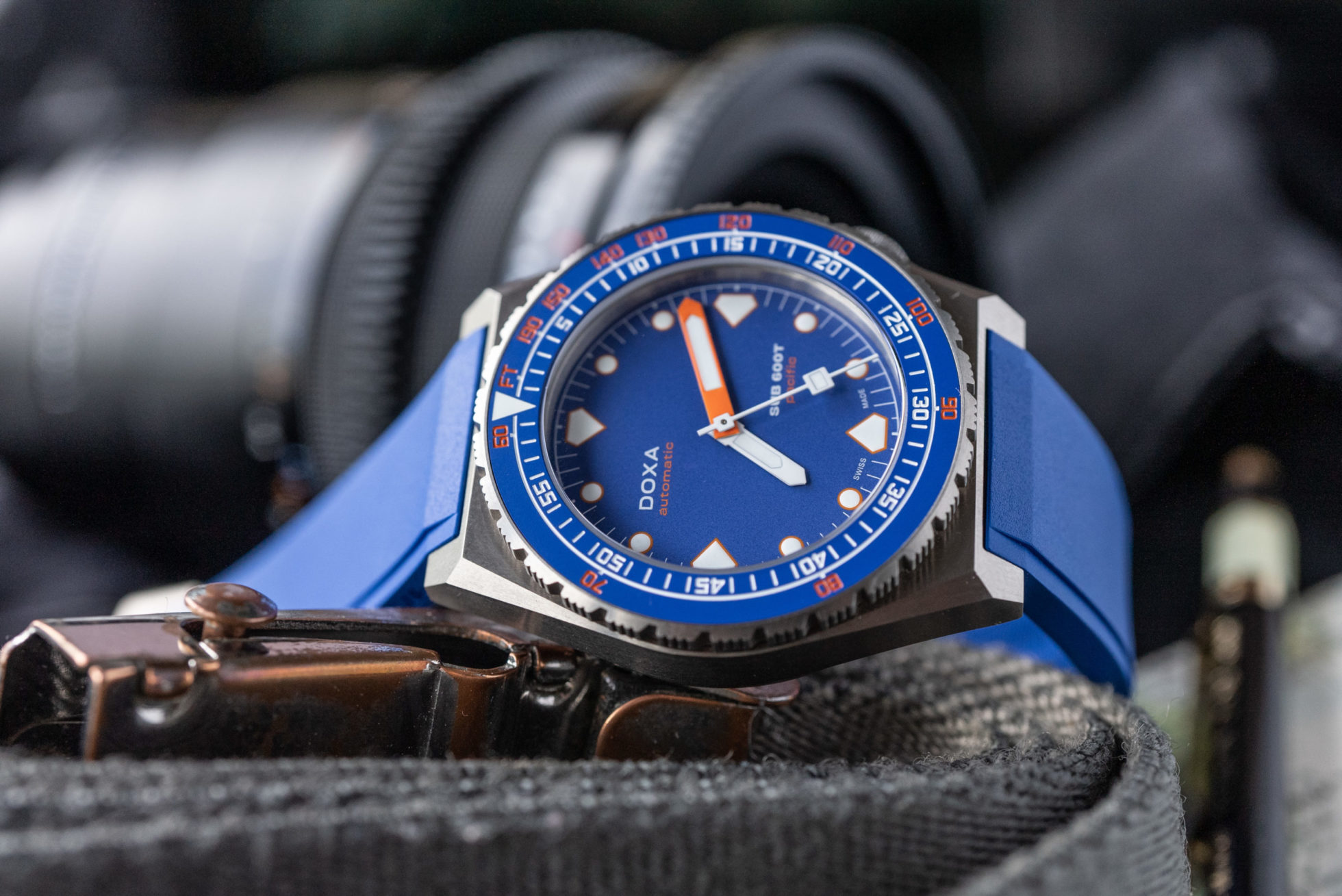 INTRODUCING: The Time+Tide x Doxa SUB 600T 'pacific' Limited Edition of 200 pieces, available to buy here now