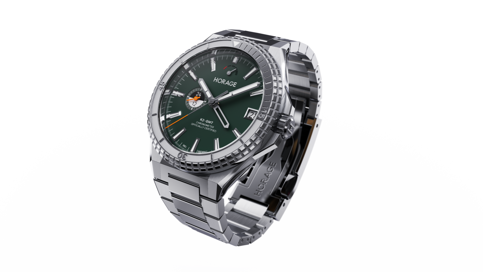 INTRODUCING: The Horage Supersede aims to deliver unprecedented value with new K2 micro-rotor GMT caliber