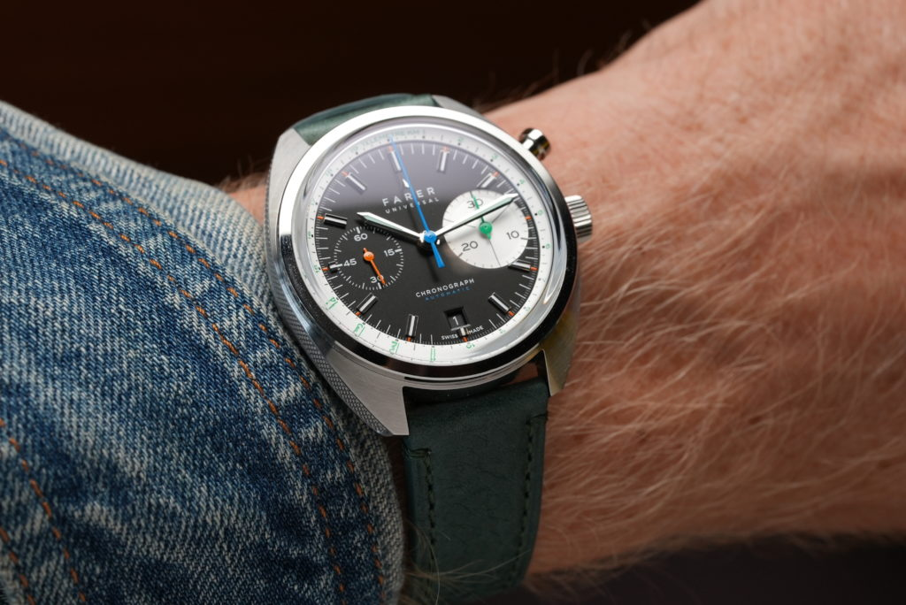 HANDS ON – The Farer Segrave Monopusher Chronograph delivers a big eye with a colourful twist