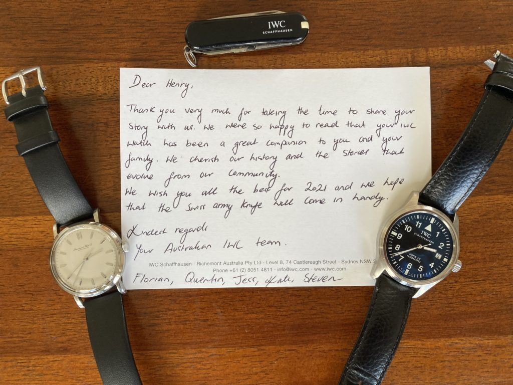 How IWC watches became entwined into generations of my family history