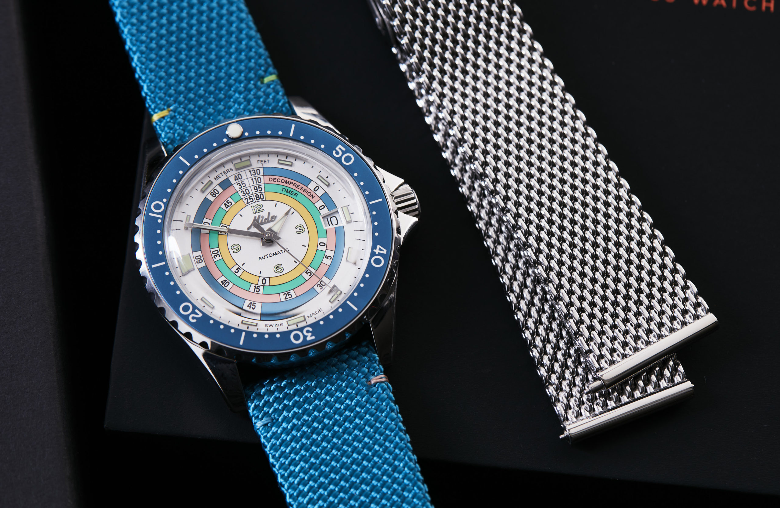 VIDEO: The Mido Decompression Timer 1961 Limited Edition with a fresh silver dial and turquoise bezel