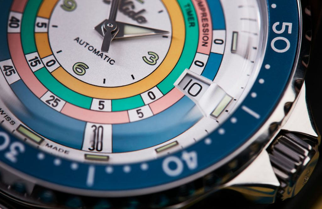 HANDS-ON: The return of the Rainbow Diver Limited Edition! The 2021 Mido Decompression Timer 1961
