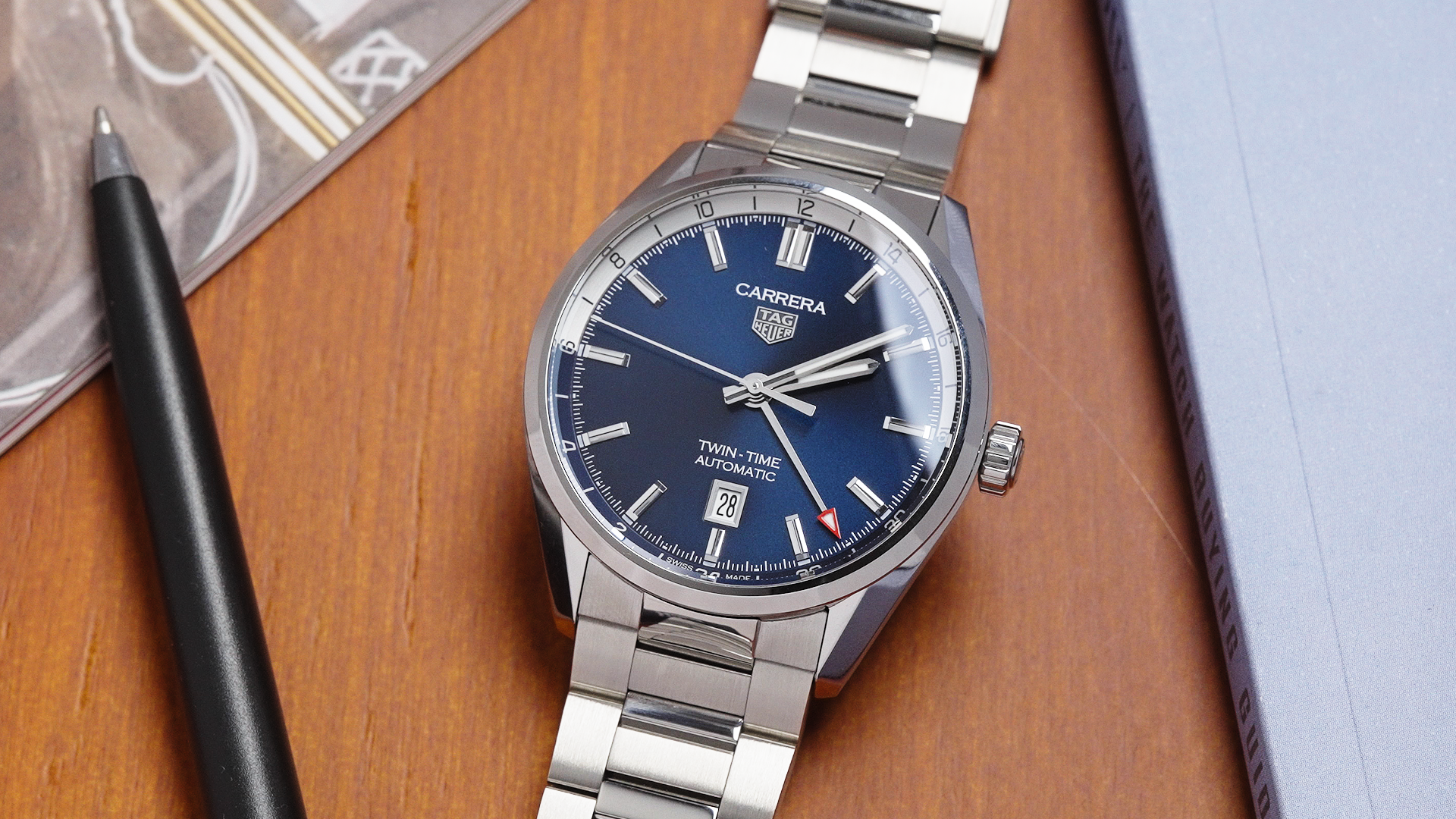 VIDEO: The TAG Heuer Carrera Twin-Time 41 is a clean and versatile traveller's GMT